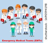 group of doctors  nurses  male... | Shutterstock . vector #1690594198
