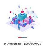 trendy flat illustration....   Shutterstock .eps vector #1690609978