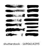 vector grungy paint brush... | Shutterstock .eps vector #1690614295