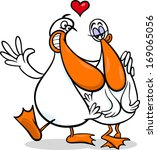 valentines day cartoon... | Shutterstock . vector #169065056