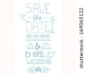 beautiful save the date card... | Shutterstock .eps vector #169065122
