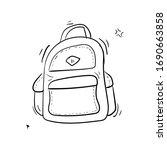 hand drawn vector set of sketch ... | Shutterstock .eps vector #1690663858