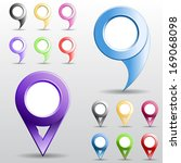 set of multicolored circle... | Shutterstock . vector #169068098