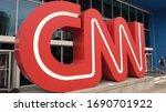 Big Cnn Logo At Cnn Headquarter ...