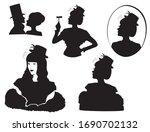 retro silhouette people set....   Shutterstock .eps vector #1690702132