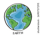 vector of earth isolated on...   Shutterstock .eps vector #1690737295