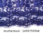 texture  pattern  lace blue on... | Shutterstock . vector #1690754968