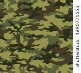 green camouflage pattern... | Shutterstock .eps vector #1690771555