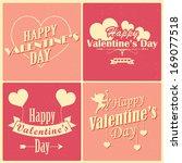 illustration of retro love... | Shutterstock .eps vector #169077518