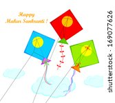 illustration of makar sankranti ... | Shutterstock .eps vector #169077626