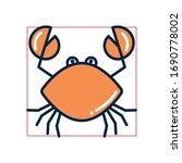 crab fill style icon design sea ... | Shutterstock .eps vector #1690778002