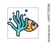 fish with alga fill style icon... | Shutterstock .eps vector #1690778188