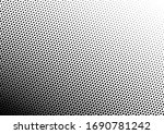 black and white dots background.... | Shutterstock .eps vector #1690781242
