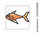fish fill style icon design sea ... | Shutterstock .eps vector #1690783888