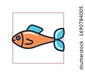 fish fill style icon design sea ... | Shutterstock .eps vector #1690784005