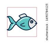 fish fill style icon design sea ... | Shutterstock .eps vector #1690784125
