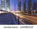 shanghai pudong night | Shutterstock . vector #169080335