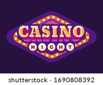 casino night purple rhombus... | Shutterstock .eps vector #1690808392