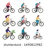 Group Of People On Bicycles....