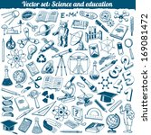 science and education doodles... | Shutterstock .eps vector #169081472