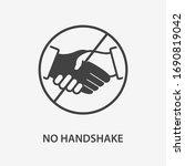 no handshake icon. black vector ... | Shutterstock .eps vector #1690819042