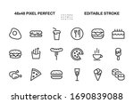 a simple set of fast food icons ... | Shutterstock .eps vector #1690839088