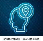 glowing neon line delivery man... | Shutterstock .eps vector #1690851835