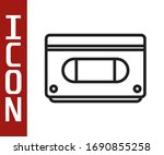 Black Line Vhs Video Cassette...