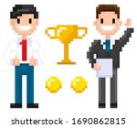 Pixel Characters Businessman...