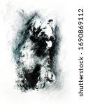 pumi  dog  illustration  oil... | Shutterstock . vector #1690869112