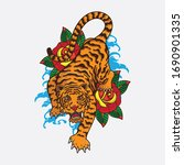 vector of traditional tiger... | Shutterstock .eps vector #1690901335