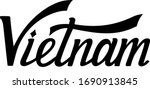 vietnam hand drawn letters.... | Shutterstock .eps vector #1690913845