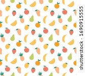 fruit seamless pattern. summer... | Shutterstock .eps vector #1690915555