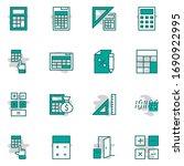set of calculation vector line... | Shutterstock .eps vector #1690922995