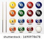 billiard  pool balls with... | Shutterstock .eps vector #1690978678