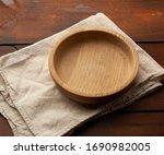 Empty Round Brown Plate...