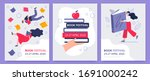 posters of the book festival.... | Shutterstock .eps vector #1691000242