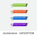 colorful lower thirds pack... | Shutterstock .eps vector #1691037238