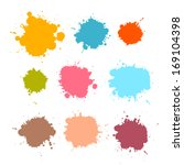 colorful retro vector stains ... | Shutterstock .eps vector #169104398