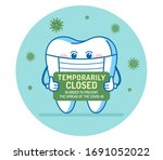 the tooth holds sign... | Shutterstock .eps vector #1691052022