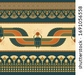 symbols of ancient egypt with... | Shutterstock .eps vector #1691056558