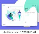 illustration of landing avoid... | Shutterstock .eps vector #1691082178
