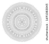 beautiful monochrome...   Shutterstock .eps vector #1691083045