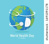world health day banner with... | Shutterstock .eps vector #1691091178