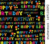 text happy birthday seamless... | Shutterstock . vector #169110092
