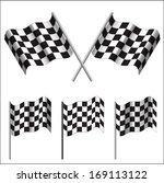 crossed checkered flags  racing ... | Shutterstock . vector #169113122