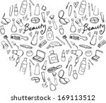 collection of beauty  ... | Shutterstock .eps vector #169113512