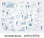 set of doodle business... | Shutterstock .eps vector #169115552
