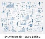 set of doodle business... | Shutterstock .eps vector #169115552