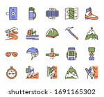 vector color linear icon set of ... | Shutterstock .eps vector #1691165302